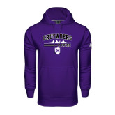 Under Armour Purple Performance Sweats Team Hood-Rowing Design