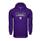 Under Armour Purple Performance Sweats Team Hoodie-Rowing Design