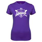 Ladies Syntrel Performance Purple Tee-2017 Patriot League Mens Champions Baseball