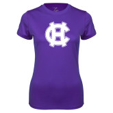 Ladies Syntrel Performance Purple Tee-Interlocking HC