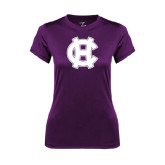 Ladies Syntrel Performance Purple Tee-Interlocking HC