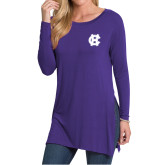 Ladies Purple Side Slit Tunic-Interlocking HC