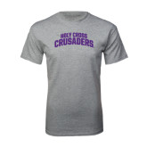 Grey T Shirt-Holy Cross Crusaders Arched