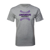 Grey T Shirt-Baseball Stitches