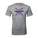 Grey T Shirt-Baseball Stitches
