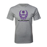 Grey T Shirt-Distressed Football Helmet
