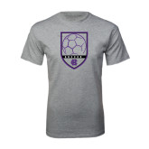 Grey T Shirt-Soccer Shield Design