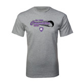Grey T Shirt-Hockey Puck Design
