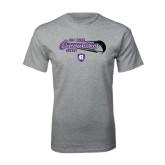 Grey T Shirt-Hockey Puck Design