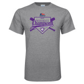 Grey T Shirt-2017 Patriot League Mens Champions Baseball