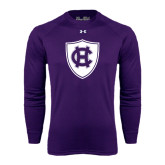 Under Armour Purple Long Sleeve Tech Tee-HC Shield