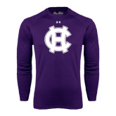 Under Armour Purple Long Sleeve Tech Tee-Interlocking HC