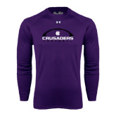 Under Armour Purple Long Sleeve Tech Tee-Crusaders Football Horizontal