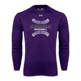 Under Armour Purple Long Sleeve Tech Tee-Baseball Stitches