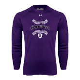 Under Armour Purple Long Sleeve Tech Tee-Softball Stitches