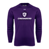 Under Armour Purple Long Sleeve Tech Tee-Vollyball Ball Design