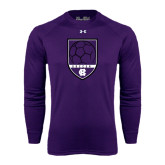 Under Armour Purple Long Sleeve Tech Tee-Soccer Shield Design