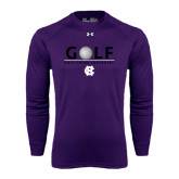 Under Armour Purple Long Sleeve Tech Tee-Golf Ball Design