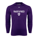 Under Armour Purple Long Sleeve Tech Tee-Track and Field Design