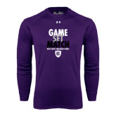 Under Armour Purple Long Sleeve Tech Tee-Game Set Match - Tennis Design