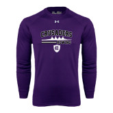 Under Armour Purple Long Sleeve Tech Tee-Rowing Design