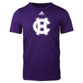 Adidas Purple Logo T Shirt-Interlocking HC