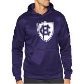 Adidas Purple Team Issue Hoodie-HC Shield
