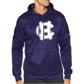 Adidas Purple Team Issue Hoodie-Interlocking HC