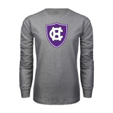 Grey Long Sleeve T Shirt-HC Shield