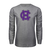Grey Long Sleeve T Shirt-Interlocking HC
