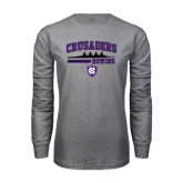 Grey Long Sleeve T Shirt-Rowing Design