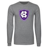 Grey Long Sleeve T Shirt-HC Shield