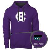 Contemporary Sofspun Purple Hoodie-Interlocking HC