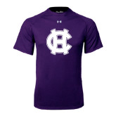 Under Armour Purple Tech Tee-Interlocking HC