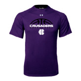 Under Armour Purple Tech Tee-Basketball Half Ball Design