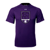 Under Armour Purple Tech Tee-Soccer Shield Design
