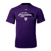 Under Armour Purple Tech Tee-Hockey Puck Design