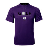Under Armour Purple Tech Tee-Golf Ball Design