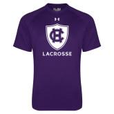Under Armour Purple Tech Tee-Lacrosse