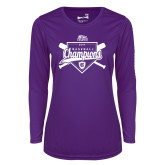 Ladies Syntrel Performance Purple Longsleeve Shirt-2017 Patriot League Mens Champions Baseball