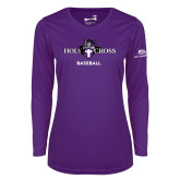 Ladies Syntrel Performance Purple Longsleeve Shirt-Baseball