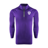 Under Armour Purple Tech 1/4 Zip Performance Shirt-HC Shield