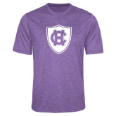 Performance Purple Heather Contender Tee-HC Shield
