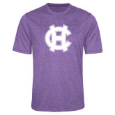 Performance Purple Heather Contender Tee-Interlocking HC
