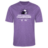 Performance Purple Heather Contender Tee-2019 Football Champs