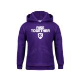 Youth Purple Fleece Hood-Rise Together
