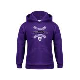Youth Purple Fleece Hood-Softball Stitches