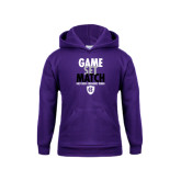 Youth Purple Fleece Hoodie-Game Set Match - Tennis Design