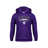 Youth Purple Fleece Hoodie-Rowing Design