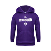 Youth Purple Fleece Hood-2017 Patriot League Mens Champions Baseball